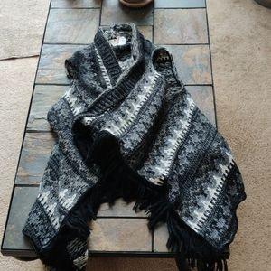Berretti Mohair Wool Blend Waterfall Front Vest